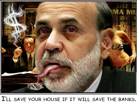 Quantitative easing and mortgage interest rate stimulus bail out Wall Street, not Main Street